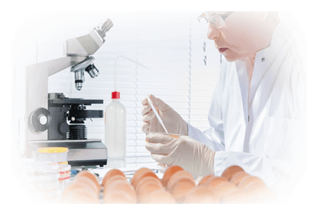 worker performing lab tests on food and pharmaceuticals in China and Asia